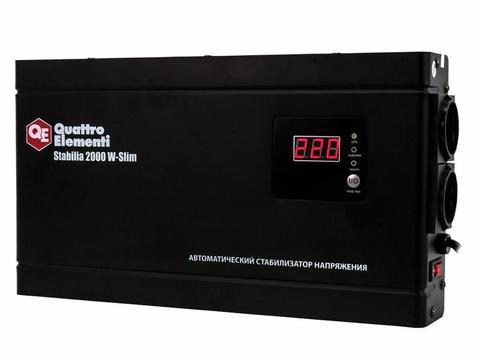 Стабилизатор напряжения QUATTRO ELEMENTI Stabilia    2000 W-Slim (2000 ВА, 140-270 В, 4,1 кг) Настенный