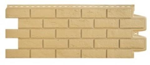 Фасадная панель Гранд Лайн Состаренный кирпич Песочный 1109х418 мм