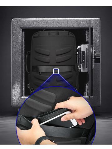 Рюкзак-сумка RK-002 BEQUEM, black, фото 17