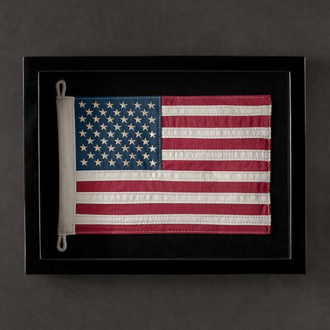 Декор Панно Restoration Hardware Флаг USA panno-restoration-hardware-flag-usa-ssha.jpeg