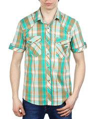 858-3 рубашка мужская, цветная