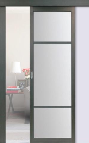 Перегородка межкомнатная Optima Porte 131.222, стекло матовое, цвет венге, остекленная (за 1 кв.м)