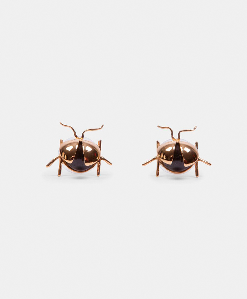 Серьги Ladybug Black