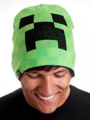Майнкрафт шапка взрослая Крипер