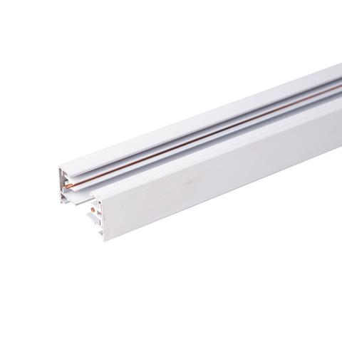 Однофазный шинопровод 1 метр белый (с вводом питания и заглушкой) TRL-1-1-100-WH