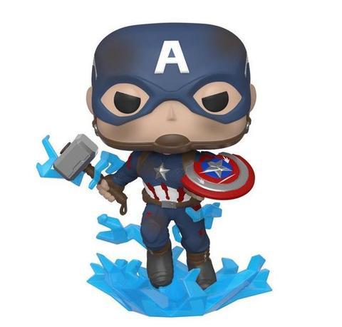 Фигурка Funko POP! Bobble: Marvel: Avengers Endgame: Captain America w/BrokenShield&Mjolnir 45137