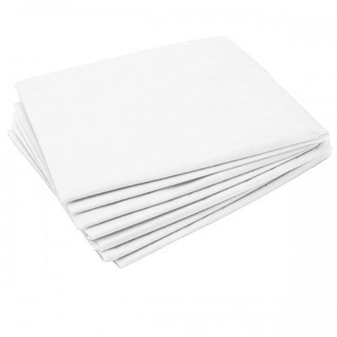 Одноразовые простыни Комфорт сложенные, белые, СМС, 200х80см (25шт/уп)