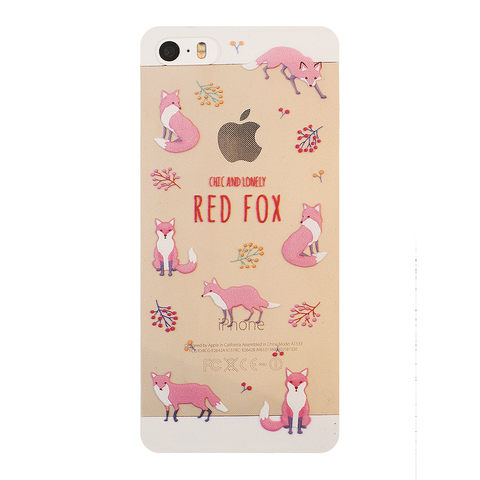 Чехол на Iphone 5/5s Red Fox
