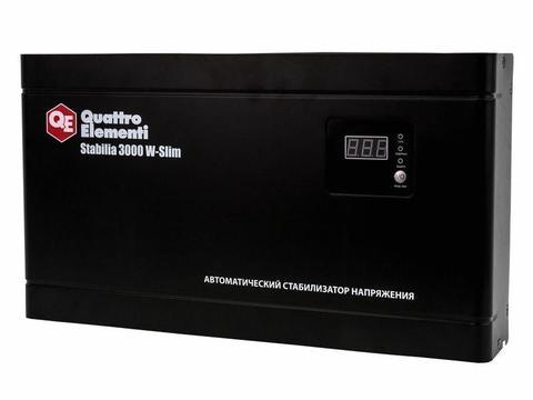 Стабилизатор напряжения QUATTRO ELEMENTI Stabilia    3000 W-Slim (3000 ВА, 140-270 В, 8,4 кг) Настенный