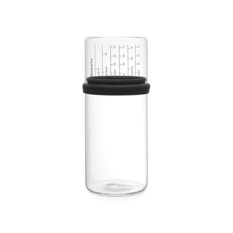 Стеклянная банка с мерным стаканом (1 л), Серый, арт. 290282 - фото 1