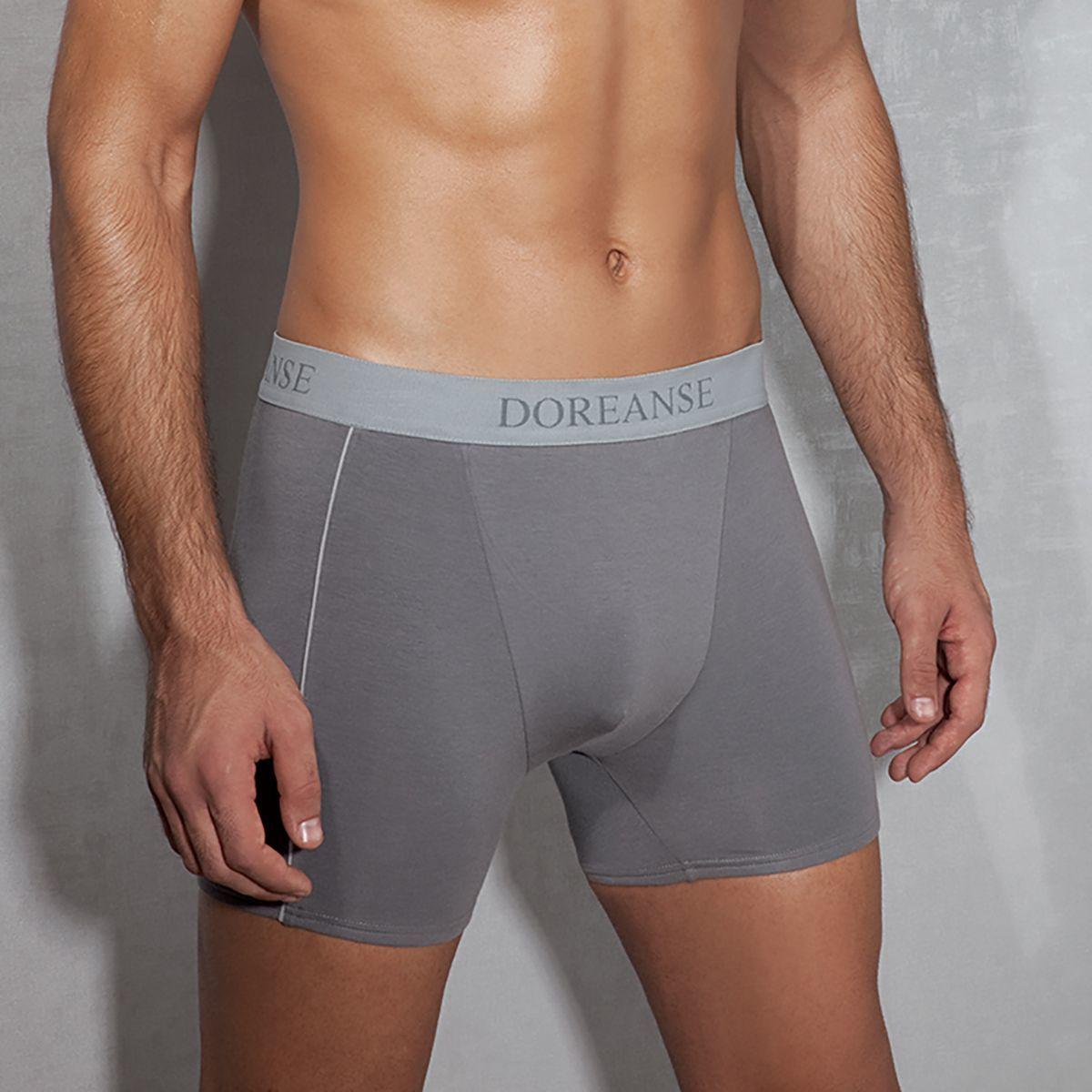 Мужское белье: Боксеры средней длины из хлопково-модальной ткани