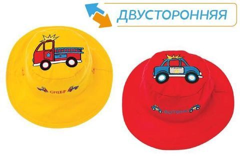 Панама Flapjackkids Пожарные/Полиция (Fire Truck/Police Car LUV0117S) S (0,5-2). Арт. 48100