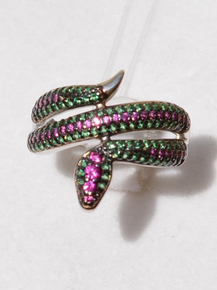 Змея-12579 (кольцо из серебра)