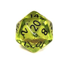 Куб D20 прозрачный: Зеленая Скверна
