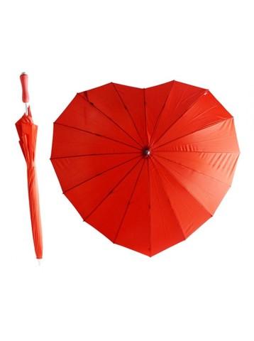 """Зонт """"Сердце"""" красный"""