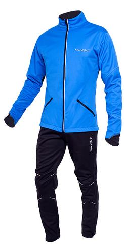 Утеплённый лыжный костюм Nordski Premium blue мужской