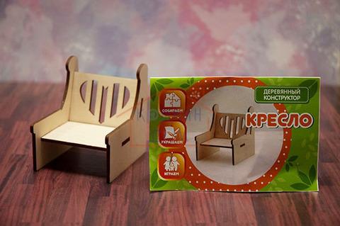 """Деревянное кресло """"Сердечко"""" Graver Master Kids"""
