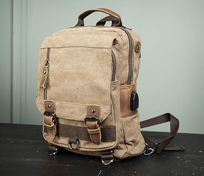 BAG476-2 Городской повседневный рюкзак с USB зарядкой фото 04