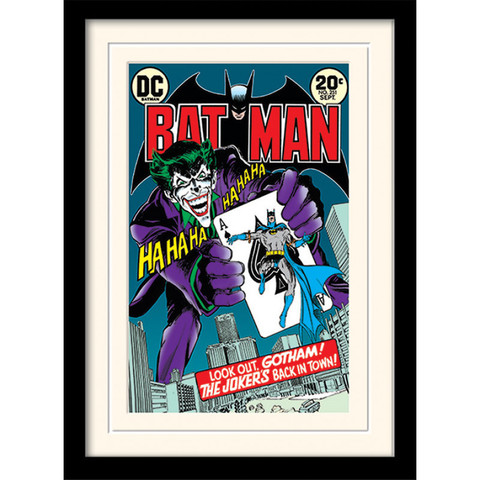 Принт в рамке Pyramid: DC: Batman (Joker's Back In Town)