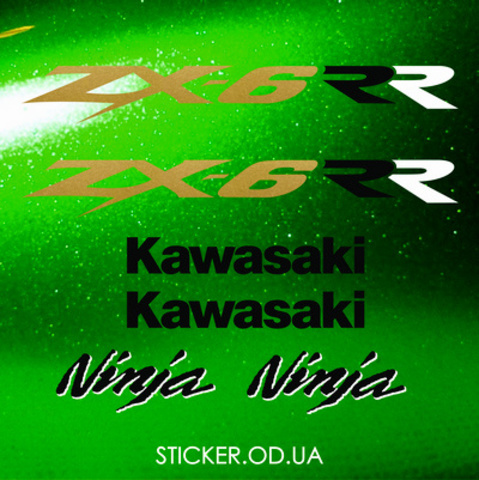 Набор виниловых наклеек на мотоцикл KAWASAKI ZX-6RR 2003
