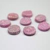 Кабошон круглый Кварц с друзой розовый (тониров) 14 мм