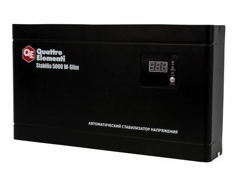 Стабилизатор напряжения QUATTRO ELEMENTI Stabilia    5000 W-Slim (5000 ВА, 140-270 В, 9,9 кг) Настенный