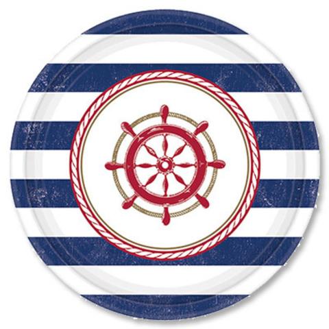 Тарелки малые Морская, 8 штук, 17см