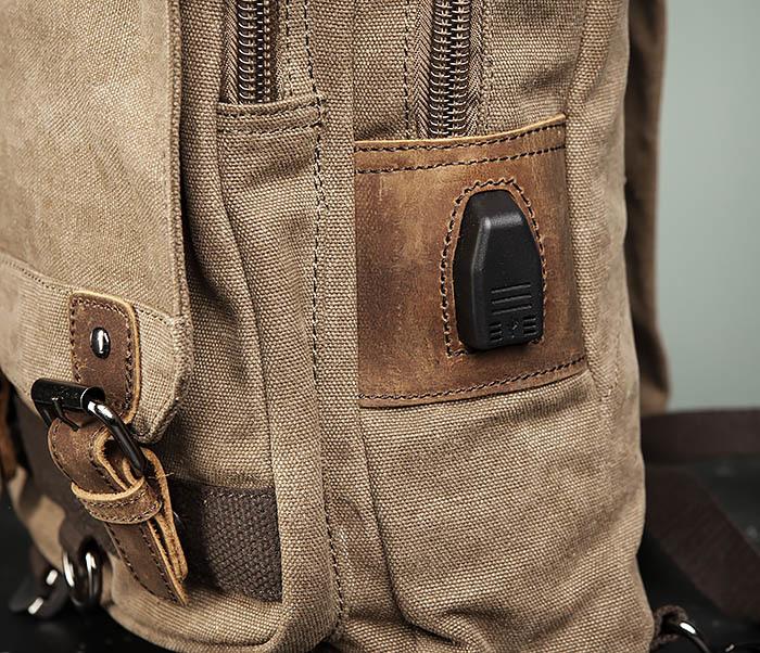 BAG476-2 Городской повседневный рюкзак с USB зарядкой фото 05