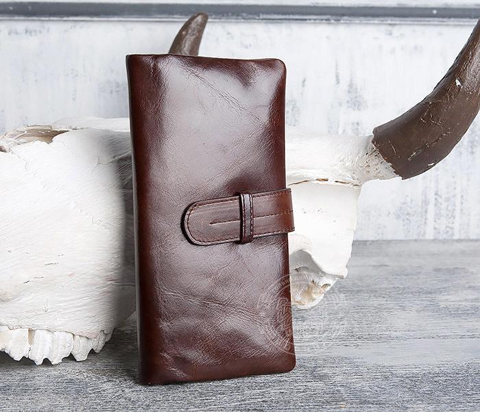 WL270-2 Мужской клатч из кожи винтажного дизайна фото 02