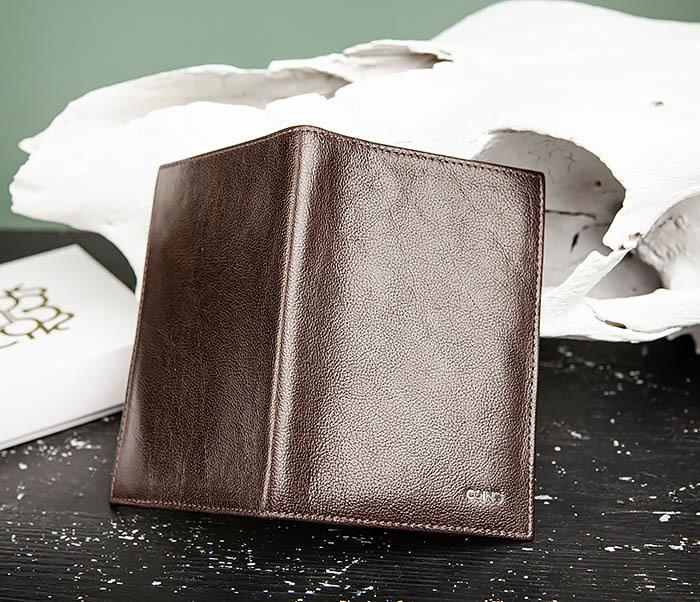 BC217-2 Кожаная обложка коричневого цвета для авто документов, «Atos» фото 04