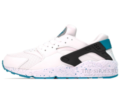 Кроссовки Мужские Nike Air Huarache Supreme White Black Turquoise
