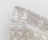 Постельное белье 2 спальное евро макси Mirabello Brussel сатин серо-бежевое