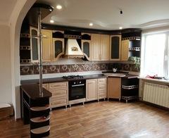 Кухня угловая с барной стойкой