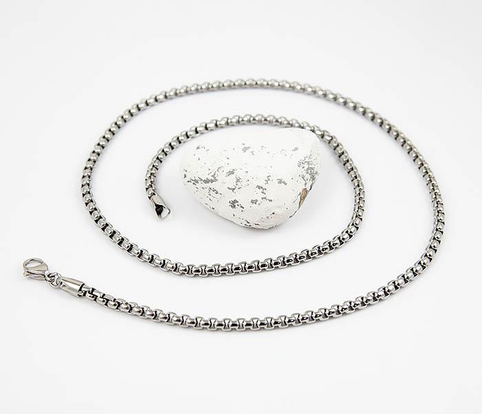 SSNQ-4041-4 Мужская «дутая» цепочка из стали, Spikes (60 см) фото 03