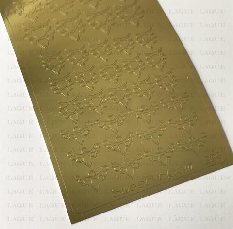 Металлизированные наклейки №223 Gold