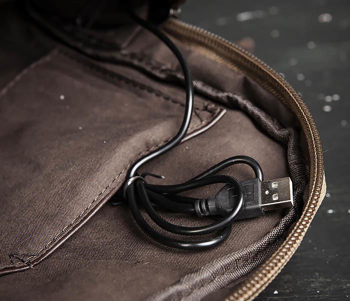 BAG476-2 Городской повседневный рюкзак с USB зарядкой фото 07