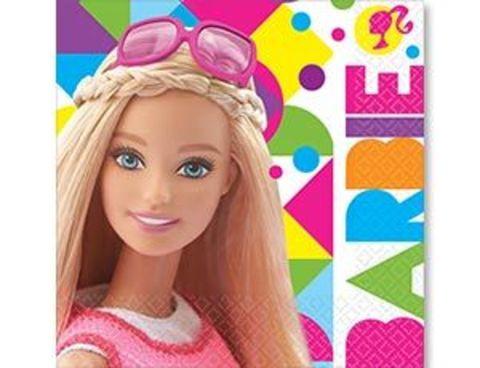 Салфетка Барби 33см 16шт