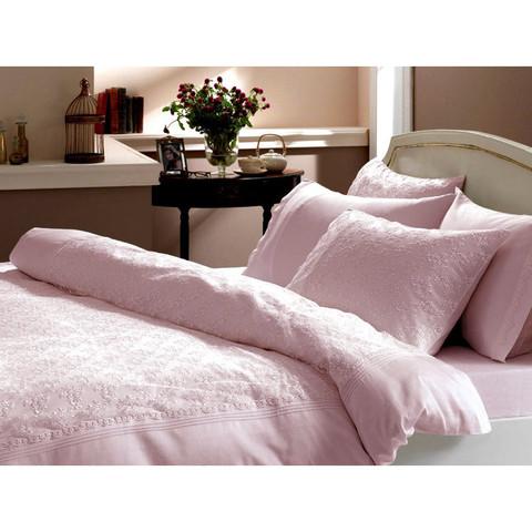 Постельное белье Gelin Home SEDEF  розовый евро