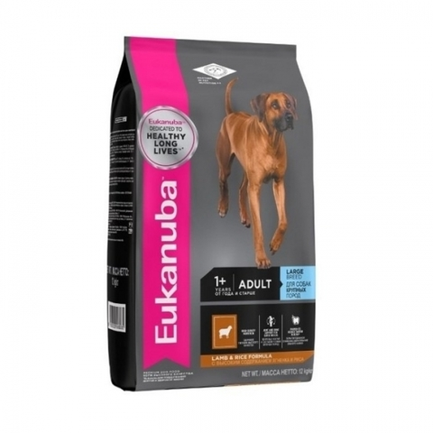 Корм для собак Eukanuba Adult Dry Dog Food For Large Breed Lamb & Rice 12 кг
