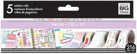 Набор стикеров в рулоне Happy Planner Sticker Roll -Faith/Gratitude- 216 шт.