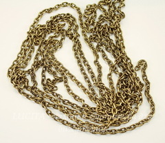 Винтажная цепь (звено 4,5х3 мм) (цвет - античное золото), 10 см