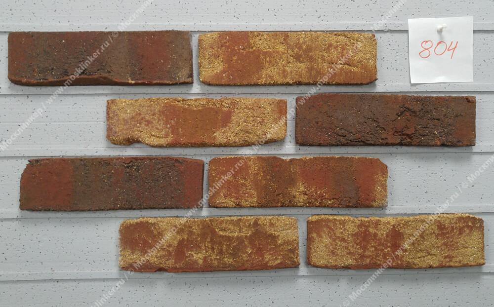 Roben, облицовочная клинкерная плитка ручной формовки, Moorbrand, торфяной пестрый (torf-bunt), NF