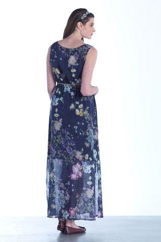 Платье 07451 синий