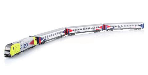 PIKO 57130 Стартовый набор железной дороги «Пассажирский состав ALEX», 1:87