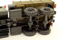 ZIL-131 flatbed truck with awning khaki Elecon Made in USSR 1:43