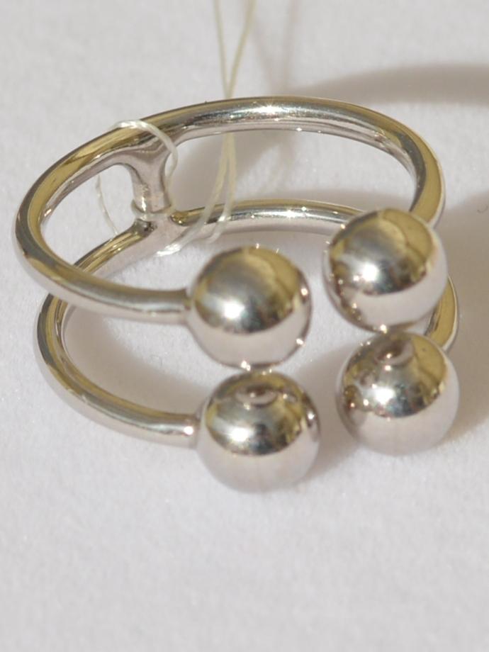 Шарики 2*2 (кольцо из серебра)