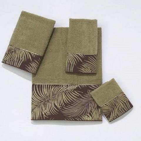 Полотенце 69х127 Avanti Tropical Leaves зеленое