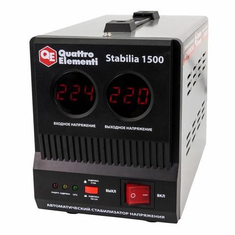 Стабилизатор напряжения QUATTRO ELEMENTI Stabilia  1500 (1500 ВА, 140-270 В, 3,9 кг)