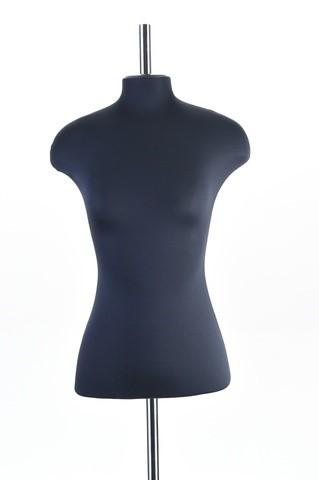 Манекен женский из эластичного пенополиуритана 52 размер ОСТ (черный)