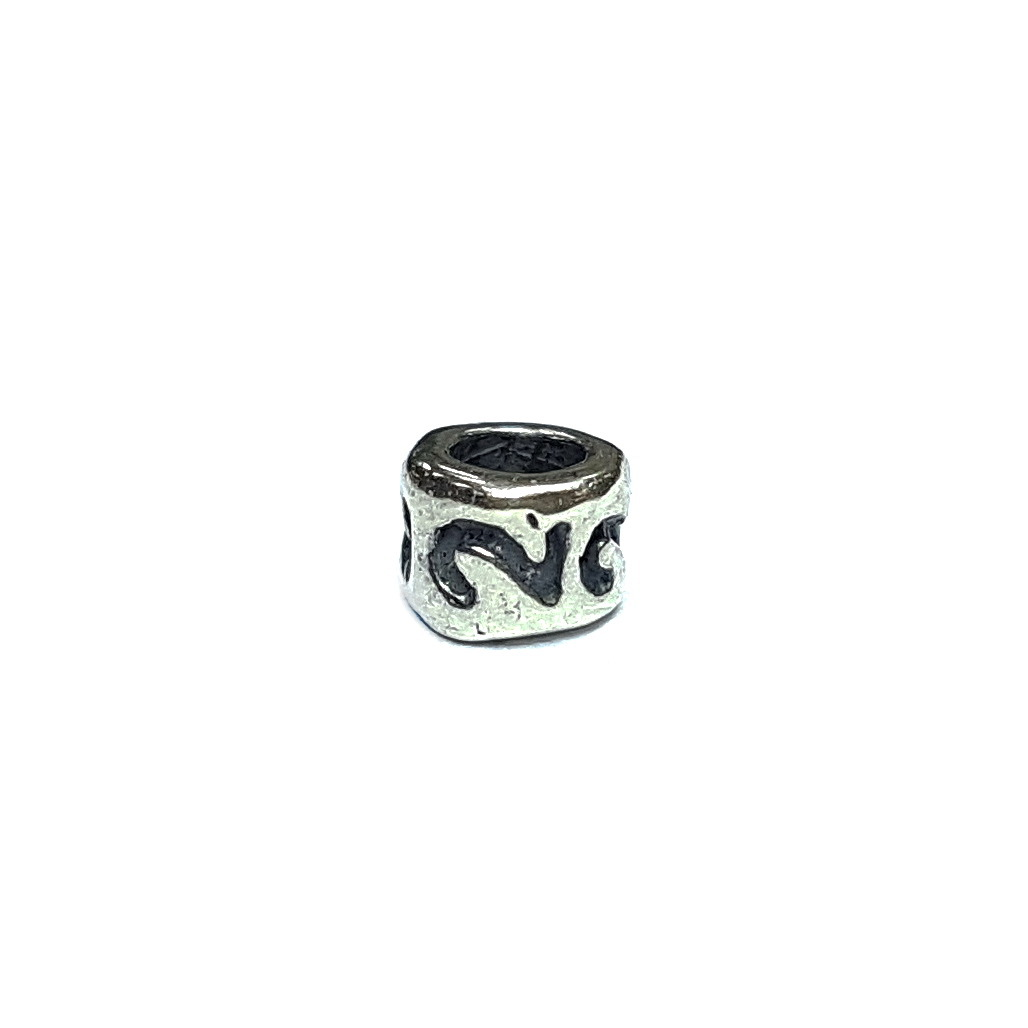 Number 2 charm, Sterling Silver
